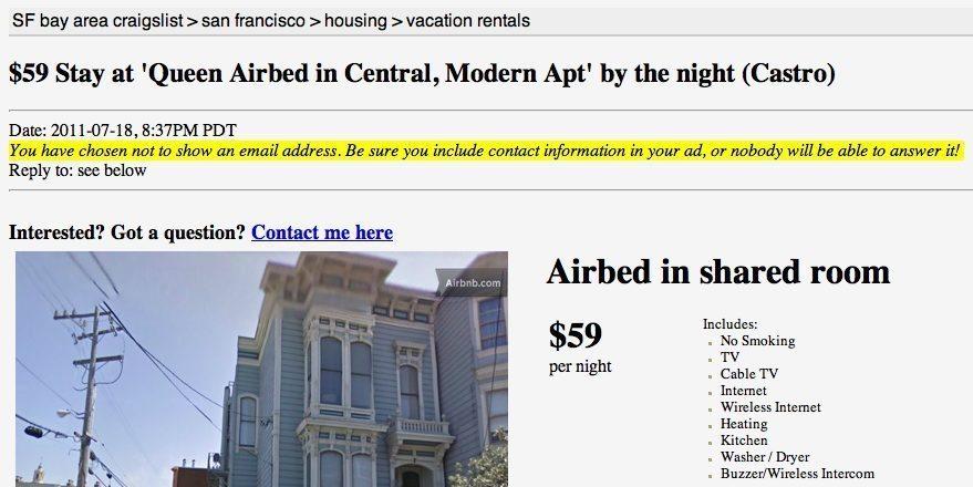 Craigslist growth hack Airbnb