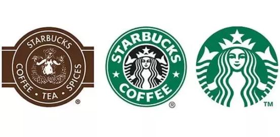 different versions of starbucks' logo